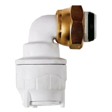 Bend Tap Connector White 15mmx1/2inch