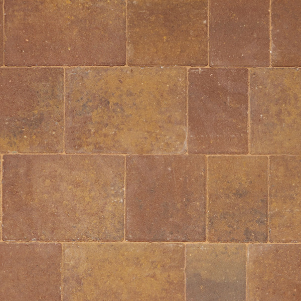 Beta TRIO Block Paving Cliffe Layout Rustic Bronze