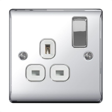 BG NPC21W 1G DP Switched Socket Nexus Polished Chrome