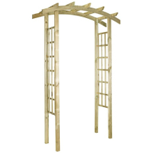 Bow Top Wooden Garden Arch 2485x1600x720mm