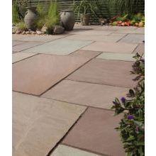 Bradstone Blended Sandstone Paving Slab Imperial Green 600x900
