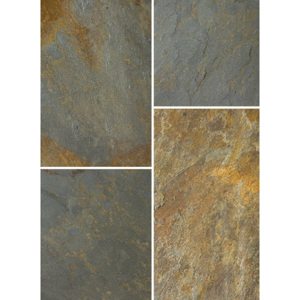 Bradstone Natural Slate Patio Kit Vijaya Gold