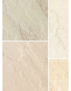 Bradstone Natural Stone Patio Pack 15.30m2 Fossil Buff