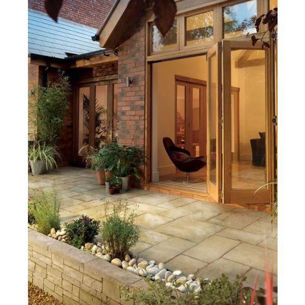 bradstone old town patio feature kit w limestone. Black Bedroom Furniture Sets. Home Design Ideas