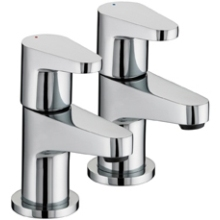 Bristan 60 x 162 x 220mm Quest Basin Taps 1/2 Chrome