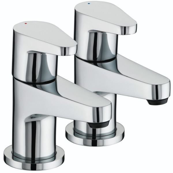 Bristan 60 x 218 x 166mm Quest Bath Taps 3/4 Chrome
