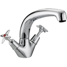 Bristan Cross Top Monobloc Sink Mixer Chrome Plated