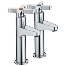 Bristan Design Utility Cross Head High Neck Taps Chrome