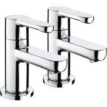 Bristan Nero Bath Taps 3/4 Chrome