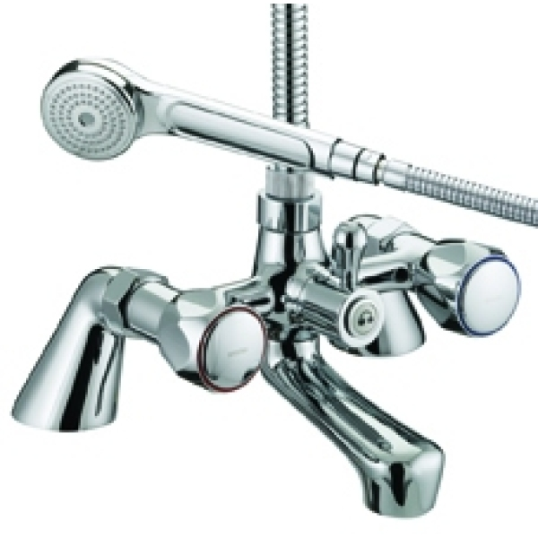 Bristan Value Club Pillar Bath Shower Mixer Chrome