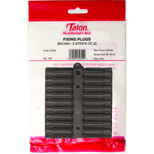 TALON Plastic Wallplugs x 100 Brown