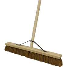 Brushware 24 Natural Coco Platform Broom Complete
