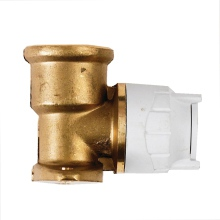 BSP Wall Plate Elbow Brass White 15mm