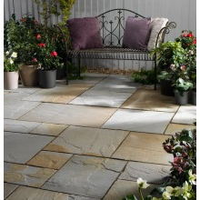 Buildbase Natural Sandstone Patio Pack 19.52m2 Rustic Grey
