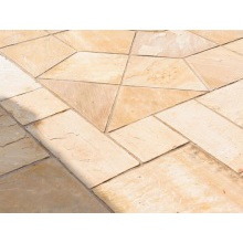 Buildbase Natural Sandstone Paving Slab Rustic Buff 600mm x 300mm