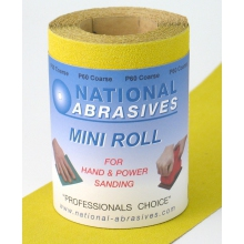 Buildbase Yellow A/Ox S/Paper 5mtr x 115mm P80