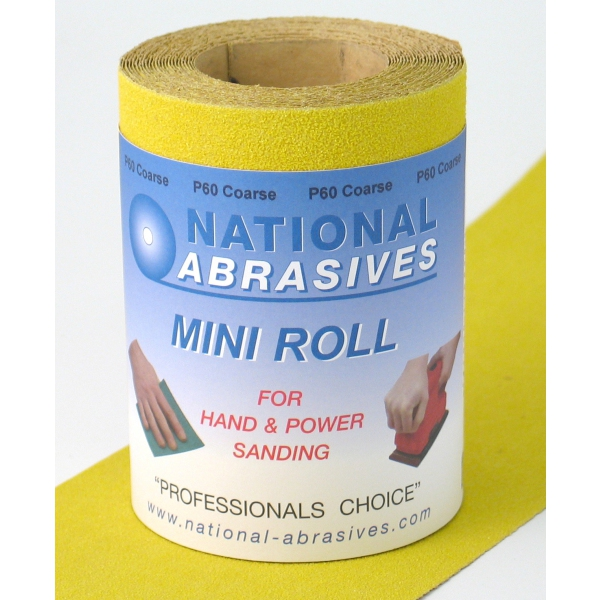 Buildbase Yellow A/Ox S/Paper 5mtr x115mm P120