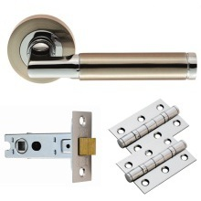 Carlisle Brass Belas Lever on Rose Latch Pack Satin Nickel/Chrome Plated