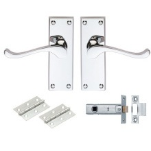 Carlisle Brass Contract Victorian Scroll Latch Pack Polished Chrome