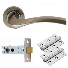 Carlisle Brass Sines Lever on Rose Latch Pack Satin Nickel/Chrome Plated