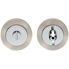Carlisle Brass Thumb Turn & Release Chrome Plated/Satin Nickel