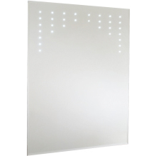 Cezanne LED Bevel Edged Mirror Shave and Demist 800x600mm