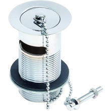 Aura Slotted Basin Waste Plug & Chain Chrome