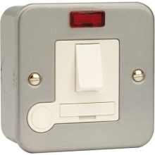 Click CL052 13A Fused Connection Unit DP Switched With Neon And Optional Flex Outlet