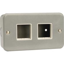 Click CL404 2 Gang Switch Plate – 2+2 Aperture