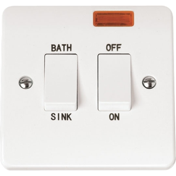 Click CMA024 20A DP Sink Bath Switch With Neon