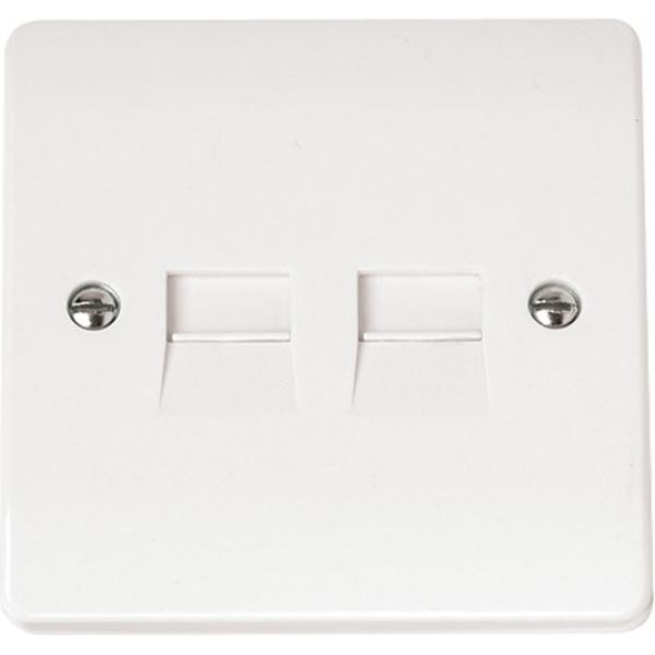 Click CMA127 Twin Telephone Outlet - Secondary