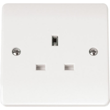 Click CMA630 13A 1 Gang Socket Outlet (Twin Earth Terminals)