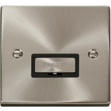 Click Deco Satin Chrome 13A Fused Connection Units