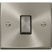 Click Deco Satin Chrome Intermediate Switch