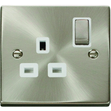Click Deco Satin Chrome Socket Outlet