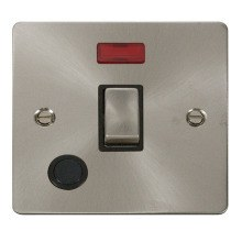 Click FPBS523BK Ingot 20A 1 Gang DP Switch + Flex Outlet & Neon