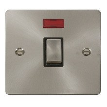 Click FPBS723BK Ingot 20A 1 Gang DP Switch & Neon