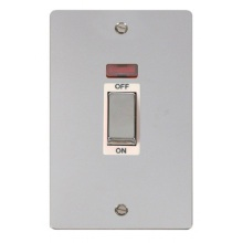 Click FPCH503WH Ingot 2 Gang 45A DP Switch With Neon
