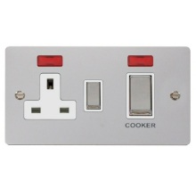 Click FPCH505WH Ingot 45A DP Switch + 13A Switched Socket & Neons (2)