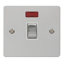 Click FPCH723WH Ingot 20A 1 Gang DP Switch & Neon