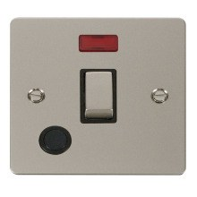 Click FPPN523BK Ingot 20A 1 Gang DP Switch + Flex Outlet & Neon