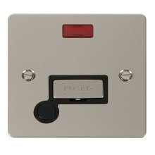 Click FPPN553BK Ingot 13A Connection Unit + Flex Outlet & Neon