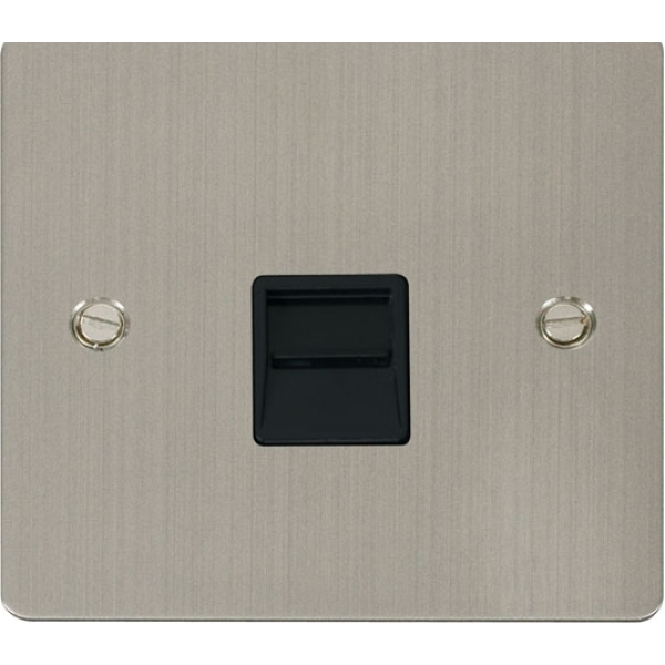 Click FPSS125BK Single Telephone Socket Secondary