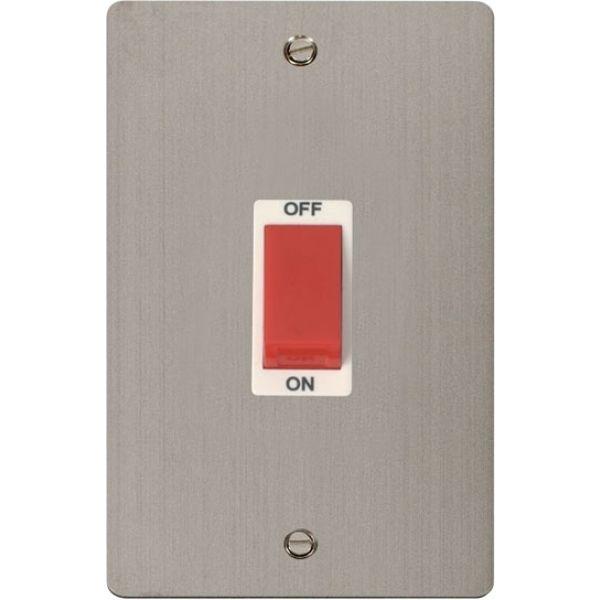 Click FPSS202WH 2 Gang 45A DP Switch