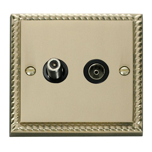 Click GCBR170BK 1 Gang Satellite & Coaxial Socket Outlet