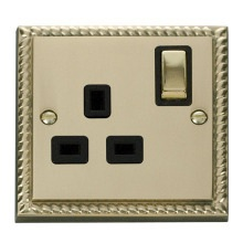 Click GCBR535BK 1 Gang 13A DP 'Ingot' Switched Socket Outlet