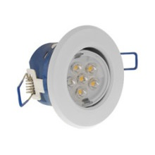 Click LED4300WH7W Inceptor Micro IP44 LED 7W Downlight - Warm White - White