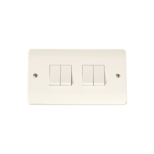 Click CMA019 10AX 4 Gang 2 Way Plate Switch