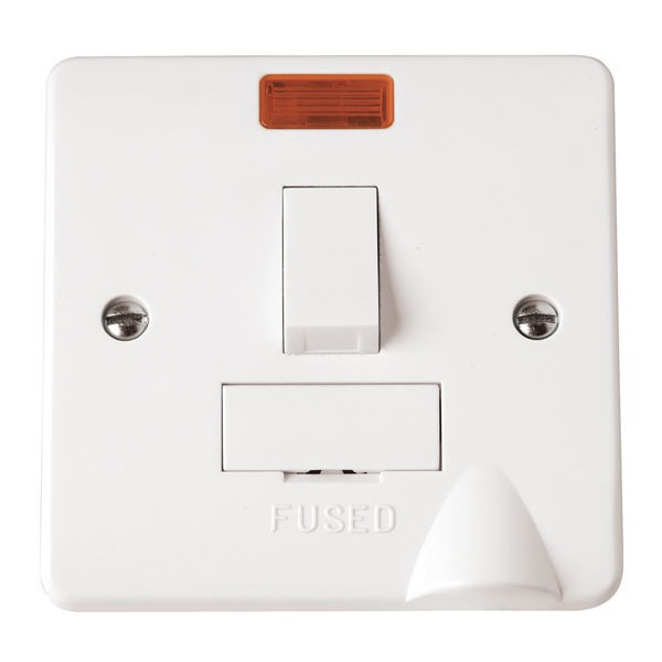 Click CMA052 13A Fused Connection Unit DP Switched With Flex Outlet Neon