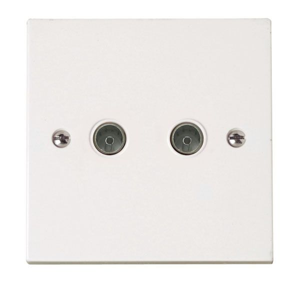 Click PRW066 Double Coaxial Socket Outlet